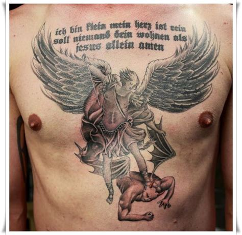saint tattoo 30 st michael design ideas
