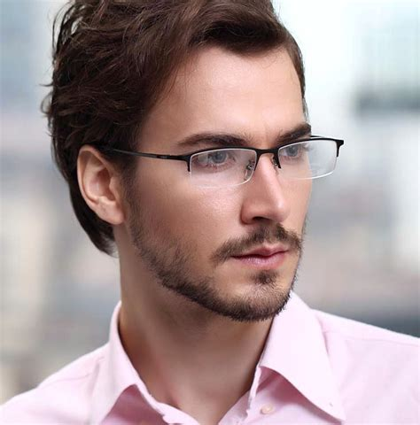 8906 titanium glasses businessmen fashion optical