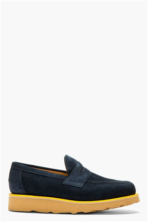 mcnairy loafers mcnairy navy suede loafers
