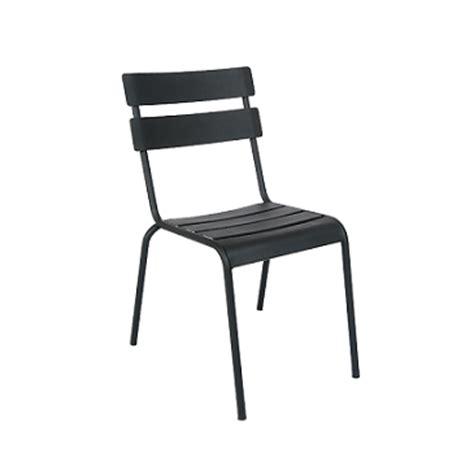Galvanized Bistro Chair Massima Black In Outdoor Version Galvanized Side Chair Restauranttabletops