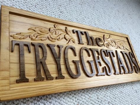 woodworking sign personalized wood last name sign 3d woodworker