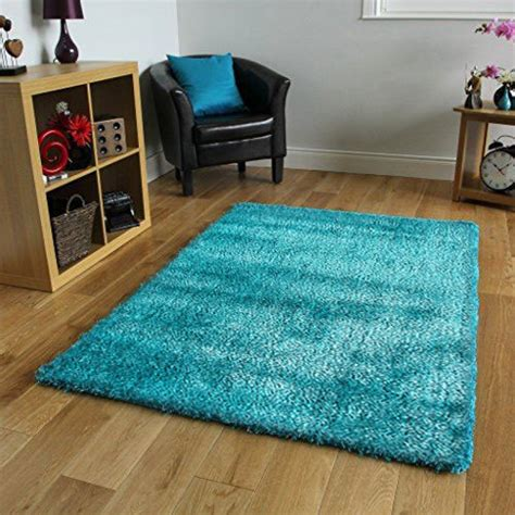 grand tapis turquoise 224 poils courts 130x190cm best of