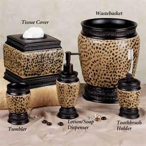 cheetah print bathroom dynasty cheetah bath accessories
