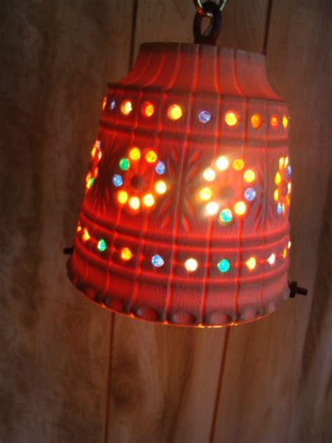vintage lawnware funky retro rv tiki patio swag lamp light