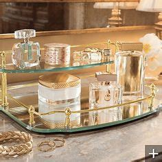 2 Tier Glass Vanity Tray by Perfume Trays On Perfume Tray Perfume And Mirrored Vanity