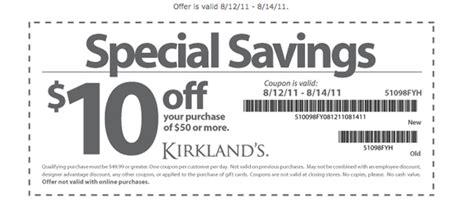 kirkland s 10 50 coupon new fall decor al