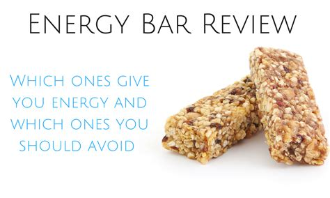 Top Energy Bars by Energy Bar Review The Best Energy Bars To Keep You
