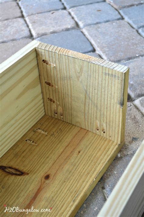 how to attach window boxes how to build a flower box planter tutorial h20bungalow