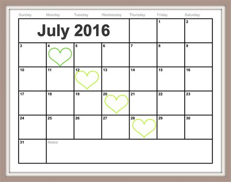 Printable Calendar Easy | free printable july calendar easy print 2015 2016 2017