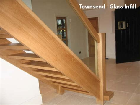 New Banisters Contemporary Oak Townsend Staircase Glass Balustrade