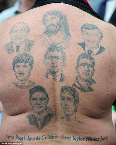 tattoo courses in leeds manchester united fans shows off legends tattoo but how