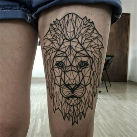 lion thigh tattoo animals tattoos designs pictures page 8