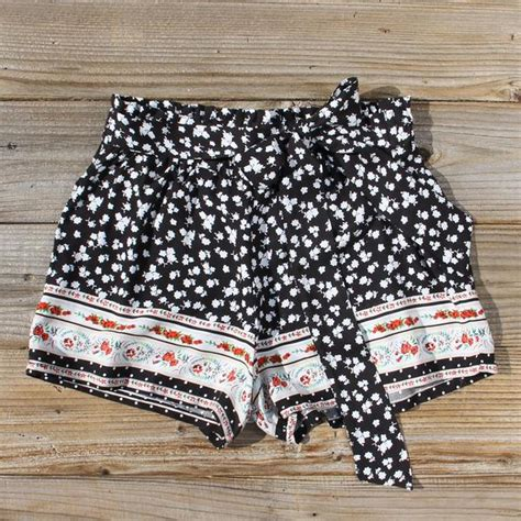 70s Charmer by 70 S Charmer Shorts In Black Sweet Shorts From