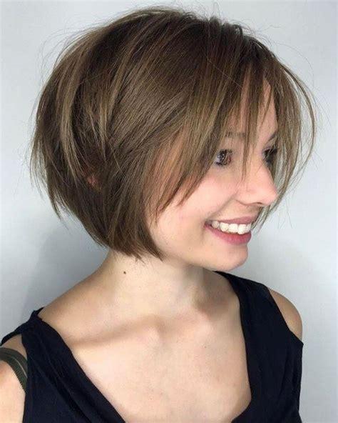 2018 short hairstyles with bangs 30 best short bob haircuts with bangs and layered bob