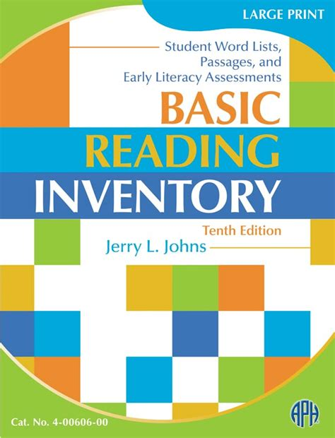 basic reading inventory kindergarten through grade twelve and early literacy assessments jerry johns informal reading inventory sle