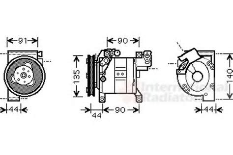 ac compressor nissan  trail   parts