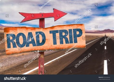 A Trip To The by Road Trip Sign Road Background Stock Photo 269296442