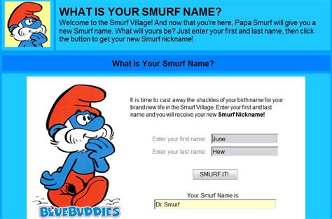 choco licious what is your smurf name