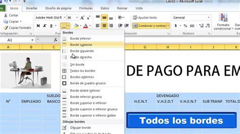 Nomina De Pago En Excel Youtube | nomina de pago en excel youtube