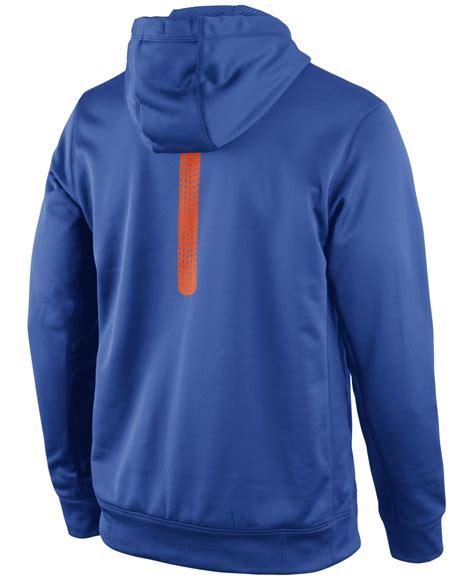 Original Hoodie Nike Ko Pullover Nike Royal Blue nike s florida gators sideline ko hoodie in blue for lyst