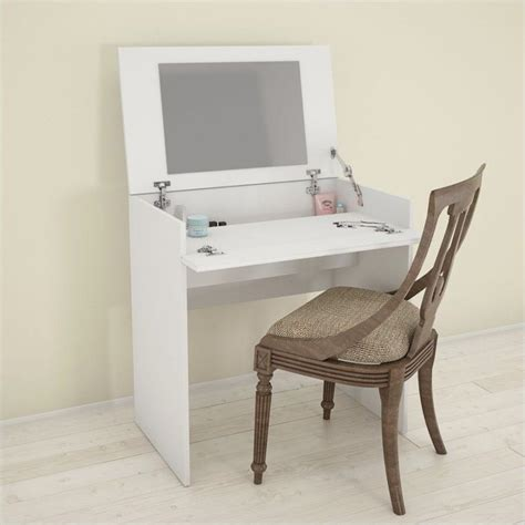 bedroom vanity with storage vanity with enclosed storage and mirror in white 221603