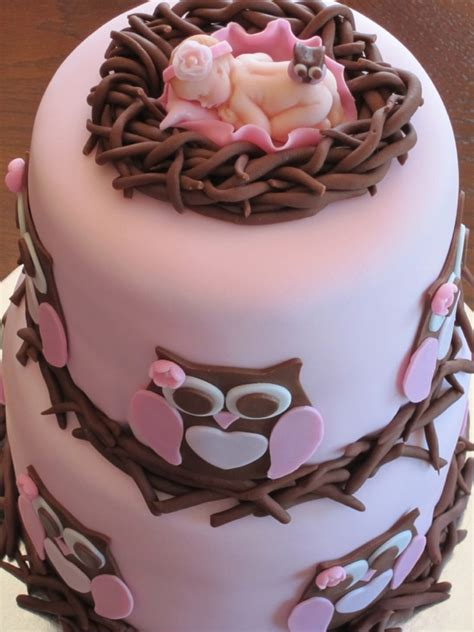 Baby Owls For Baby Shower by Owl Baby Shower Cake Cakecentral