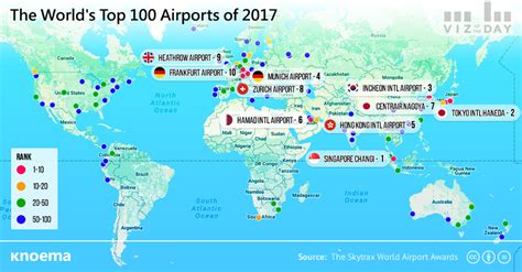 map world airports the world s top 100 airports knoema