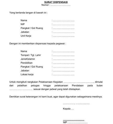 contoh surat dispensasi sertifikasi contoh surat permohonan dispensasi yang resmi baik dan