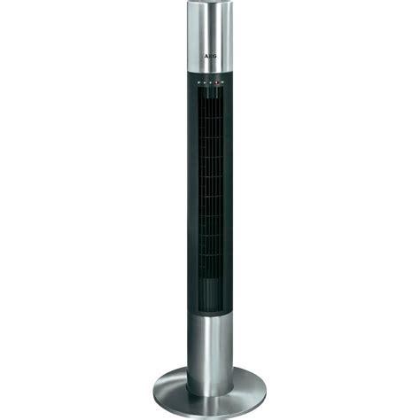 stainless steel desk fan fan tower aeg t vl 5537 40 w 216 x h 32 cm x 120 cm black