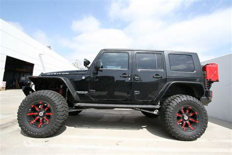 Black Lifted Jeep Wrangler Lifted Black Jeep Wrangler Unlimited Rubicon With 94r