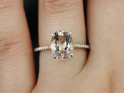 gold oval rings oval gold morganite ring