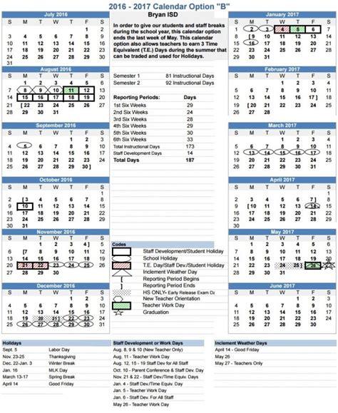 Bisd School Calendar Bisd Calendar 2017 Calendar 2017