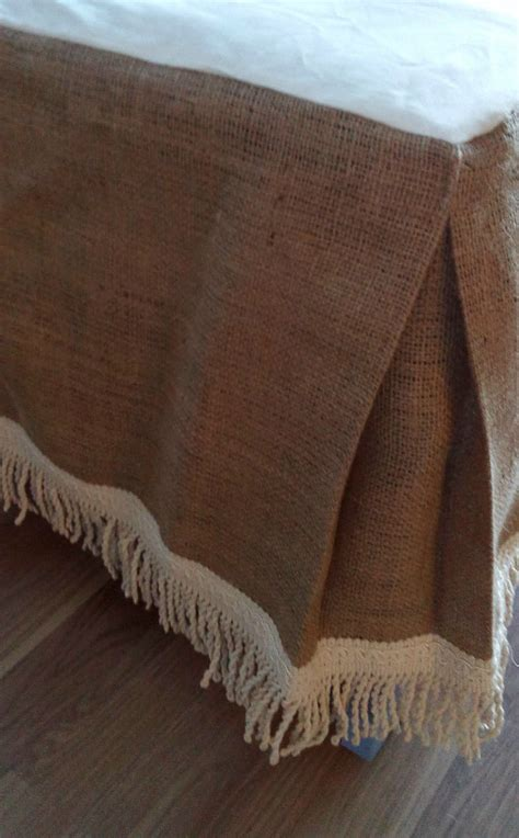 burlap bedding queen size burlap bedskirt bed skirt rustic bedskirt
