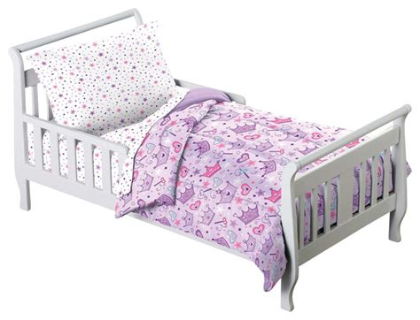 Bedding Sets For Toddler Beds Princess Crown Purple 4 Toddler Bedding Set Traditional Toddler Bedding By