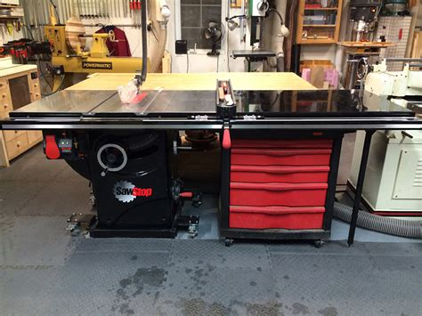 table saw with automatic stop chris billman s sawstop pcs review