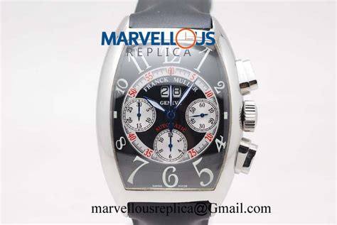 Best Arloji Frank Muller Black frank muller casablanca big date chrono replica a7750 black