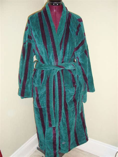 bill blass one size s teal burgundy thick cotton