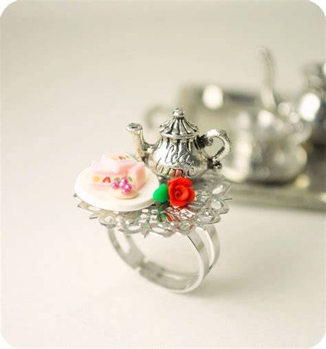 items similar to tea food ring food jewelry