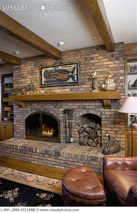 Fireplace With Built In Wood Storage by Fireplace With Wood Box Fireplaces Raised Hearth Brick