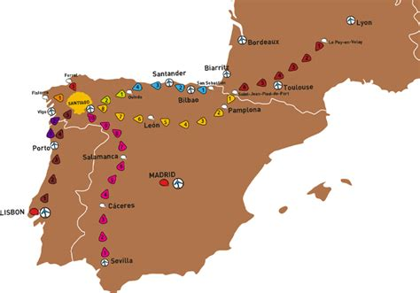 camino de santiago maps map of camino de santiago my