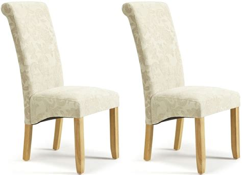 Cloth Dining Chair Buy Serene Kingston Floral Fabric Dining Chair With Oak Legs Pair Cfs Uk