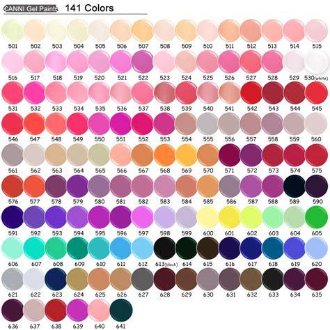 colour color 50618 141 cores nail canni venda quente soak pintura gel uv levou tinta uv cor gel para