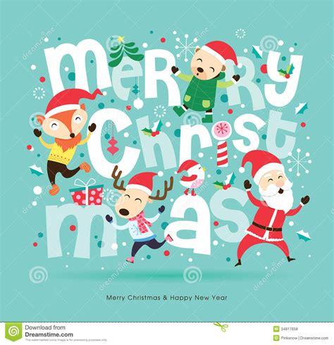 christmas card stock vector image  festive character