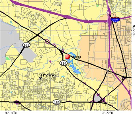 irving texas zip code map zip code for irving tx