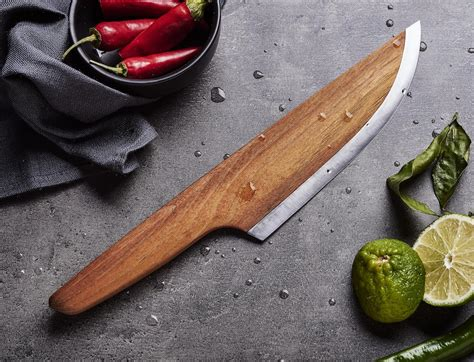 chef with knife skid wooden chef knife 187 gadget flow