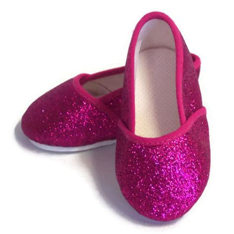 american made slippers fuchsia glitter pink slip on shoes made for 18 quot american