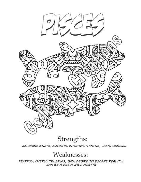 printable zodiac signs 53 best images about adult coloring pages on pinterest