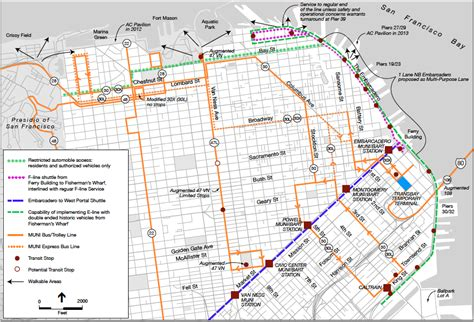 san francisco muni map san francisco muni routes map php san usa map images