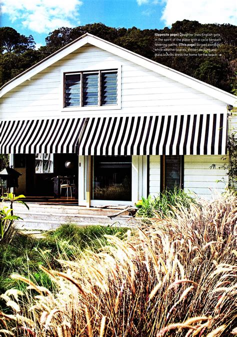 black and white striped awning ampersand design inside out magazine nov dec 10 issue