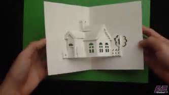 pattern kirigami house how to make a house pop up card origamic architecture